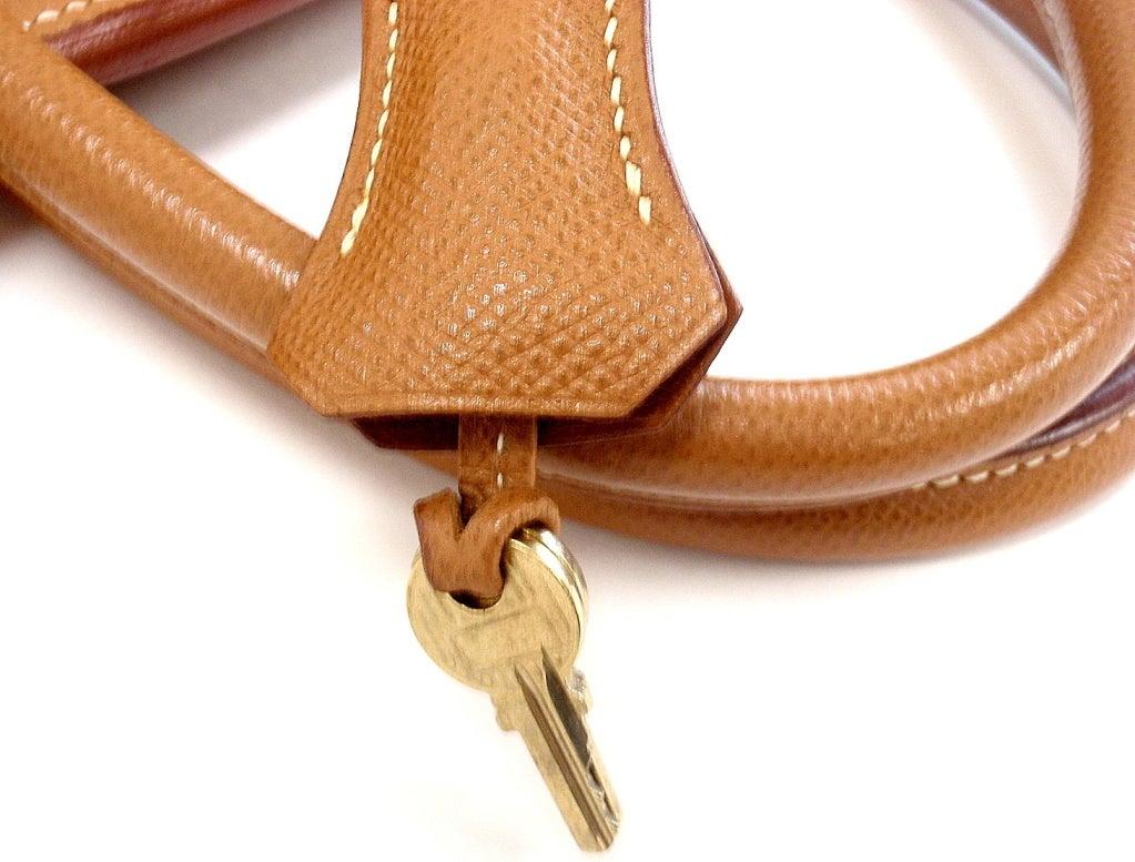HERMES Birkin 40cm Gold Courchevel Leather Handbag from 1999 8