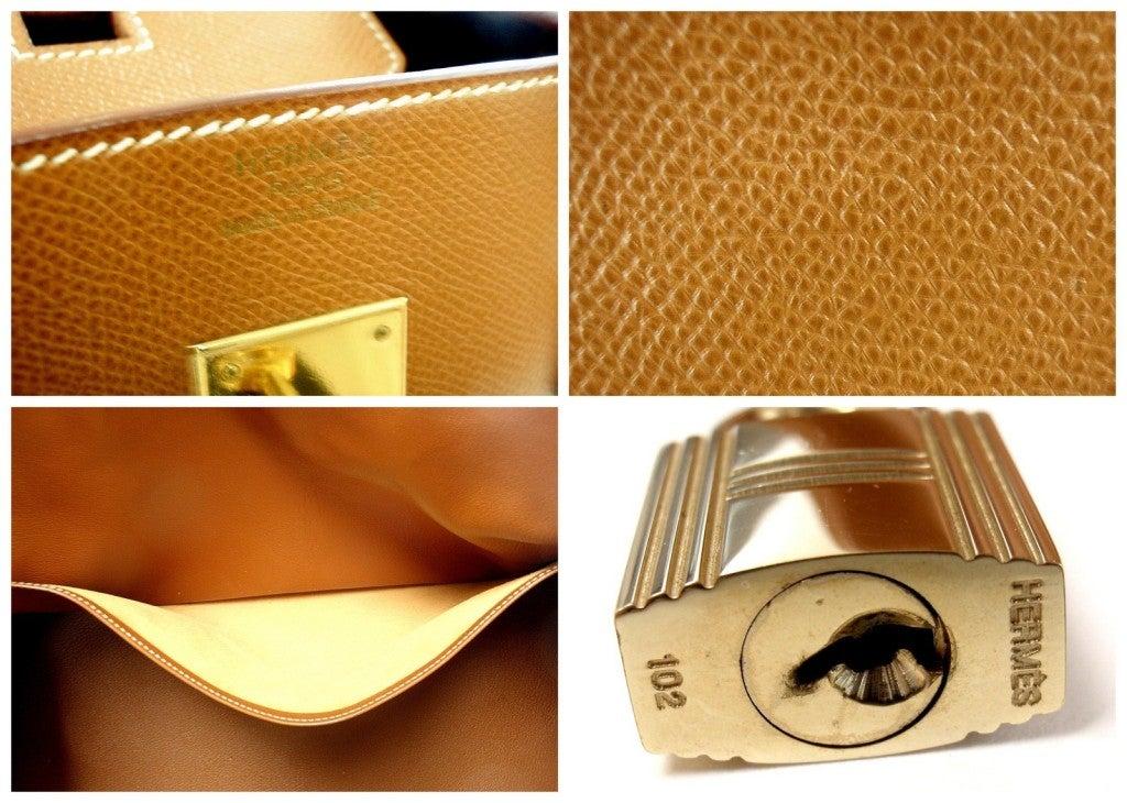 HERMES Birkin 40cm Gold Courchevel Leather Handbag from 1999 9