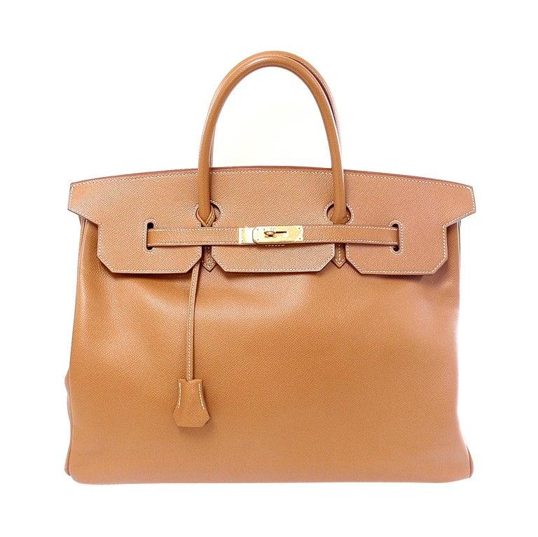HERMES Birkin 40cm Gold Courchevel Leather Handbag from 1999 1