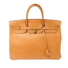 Hermes 40cm Gold Ardennes Birkin Handbag, Year 2003