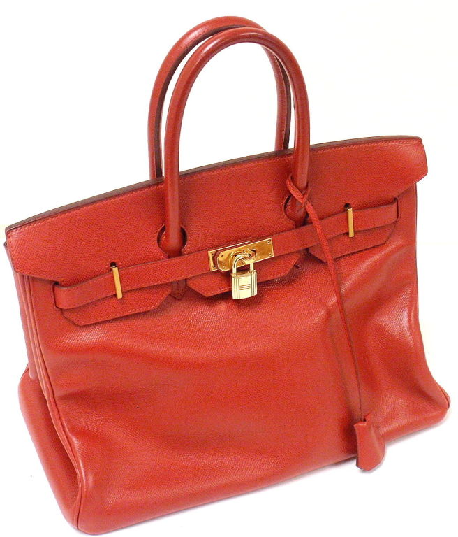 Hermes 35cm Red Epsom Birkin Handbag, Year 1995 2