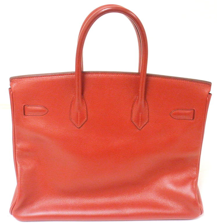 Hermes 35cm Red Epsom Birkin Handbag, Year 1995 3