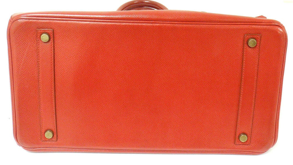 Hermes 35cm Red Epsom Birkin Handbag, Year 1995 4