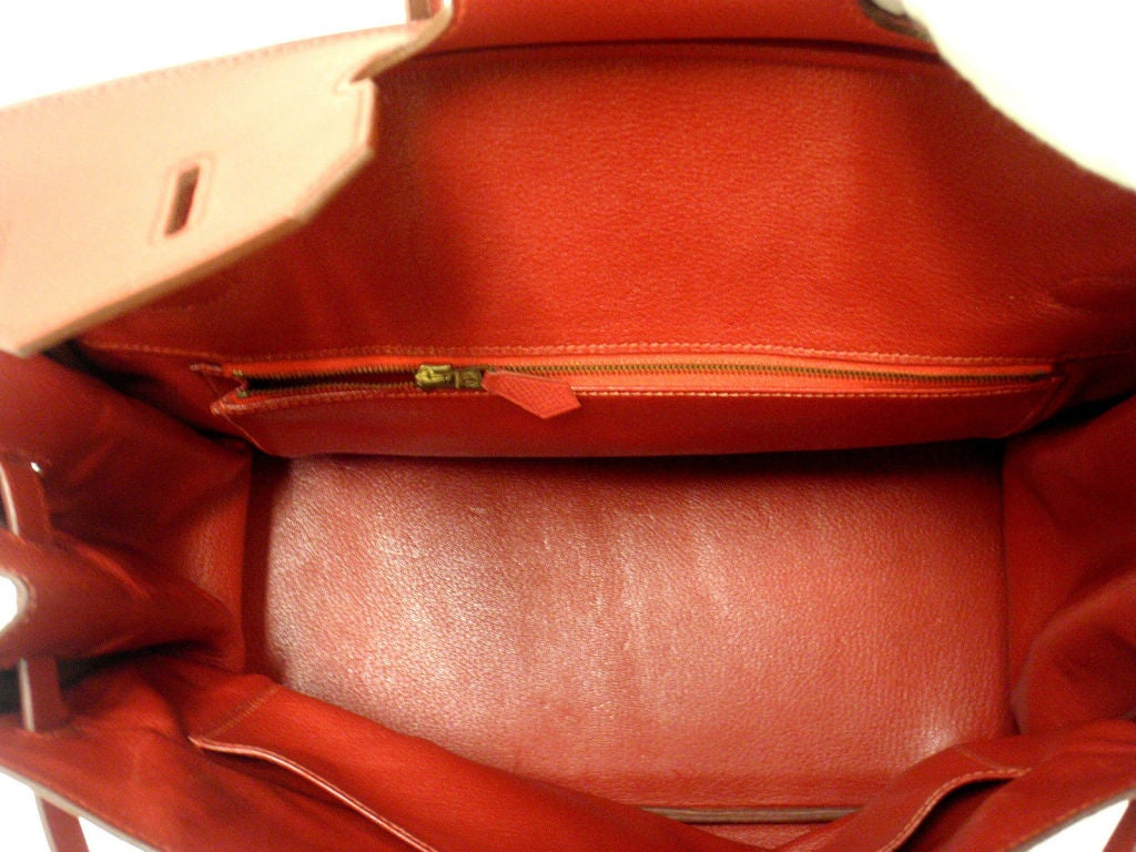 Hermes 35cm Red Epsom Birkin Handbag, Year 1995 7