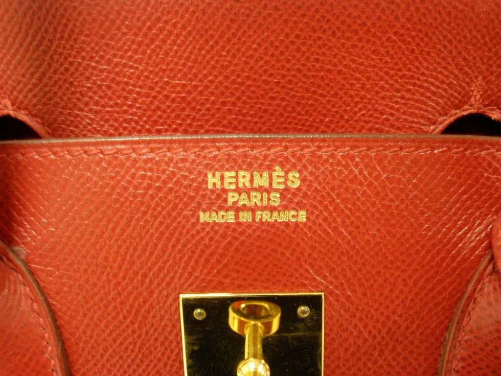 Hermes 35cm Red Epsom Birkin Handbag, Year 1995 8