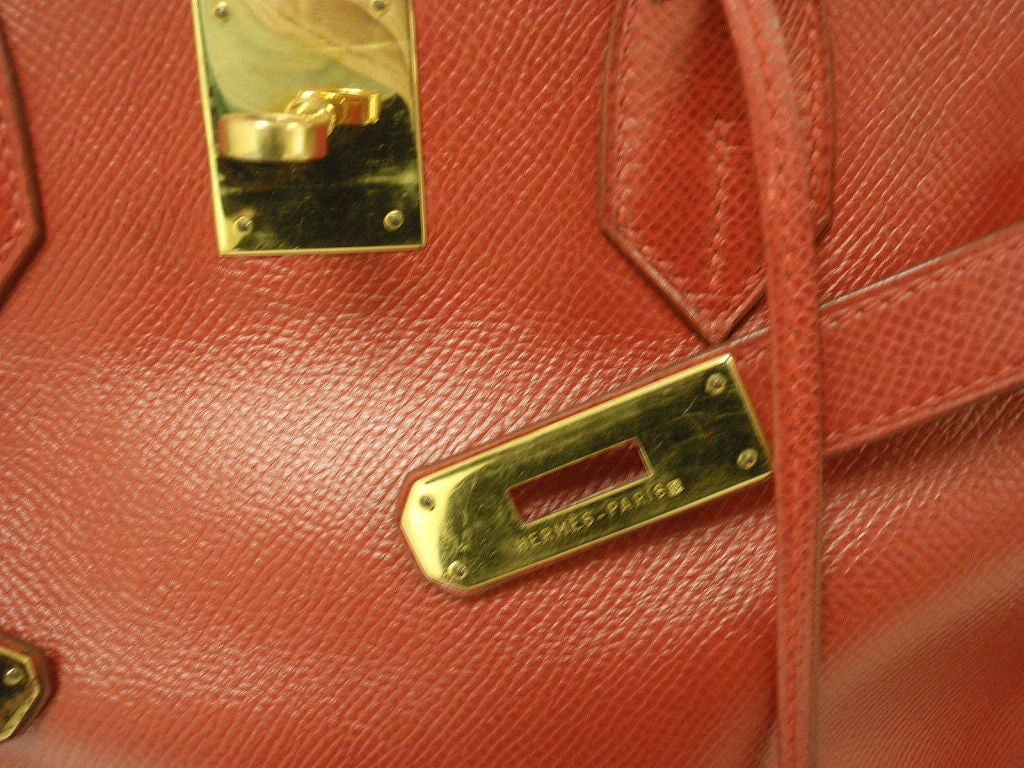 Hermes 35cm Red Epsom Birkin Handbag, Year 1995 9