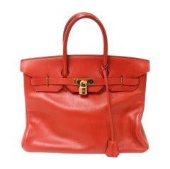 Hermes 35cm Red Epsom Birkin Handbag, Year 1995
