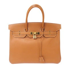 Hermes 35cm Natural Epsom Birkin Handbag, Year 1998