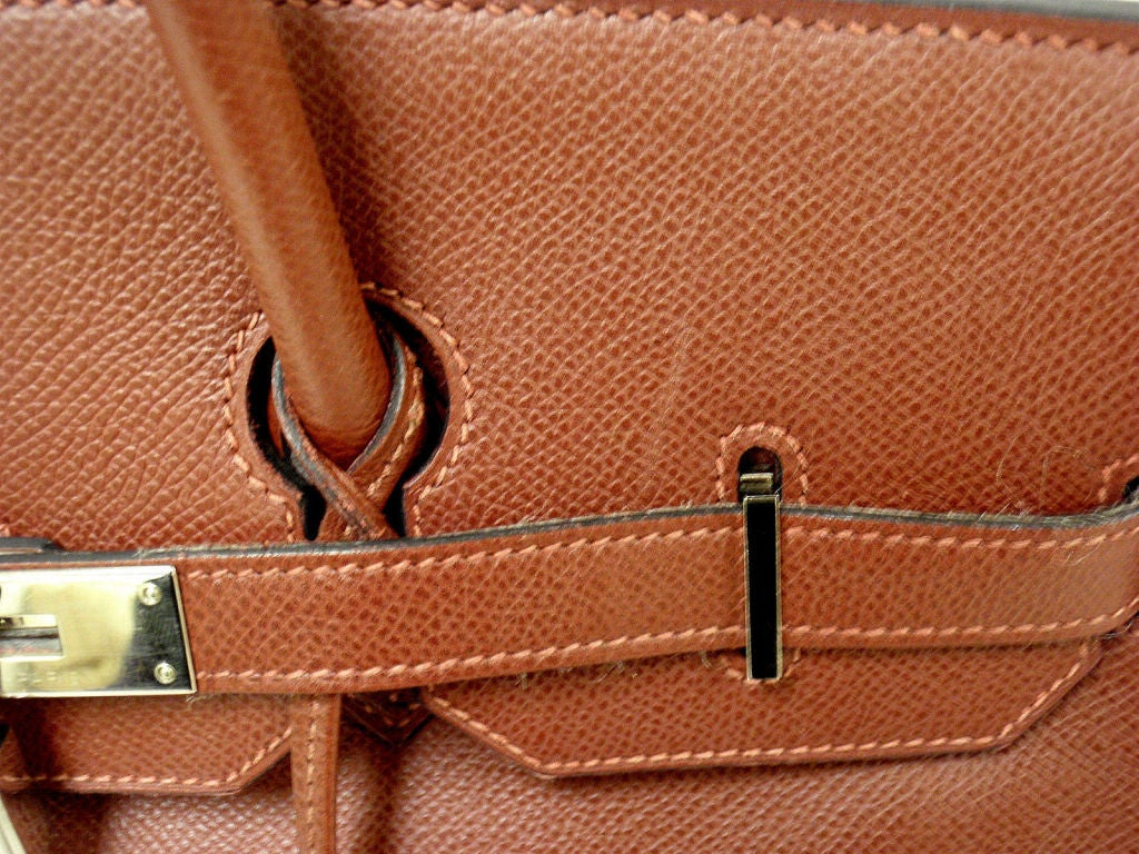 Hermes 35cm Rouge Garance Epsom Birkin Handbag, Year 2006 For Sale 5