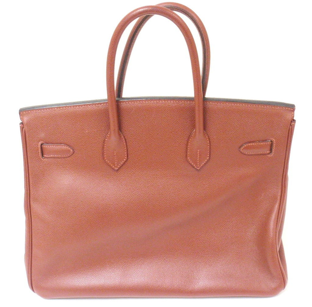 AUTHENTIC GREAT CONDITION HERMES 35CM ROUGE GARANCE EPSOM BIRKIN HANDBAG, YEAR 2006  *Please note, color may not be fully representative of handbag based on monitor and lighting. This handbag is a brick color with warm undertones.   This bag is