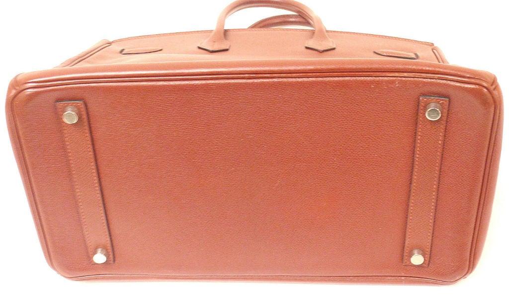 Pink Hermes 35cm Rouge Garance Epsom Birkin Handbag, Year 2006 For Sale