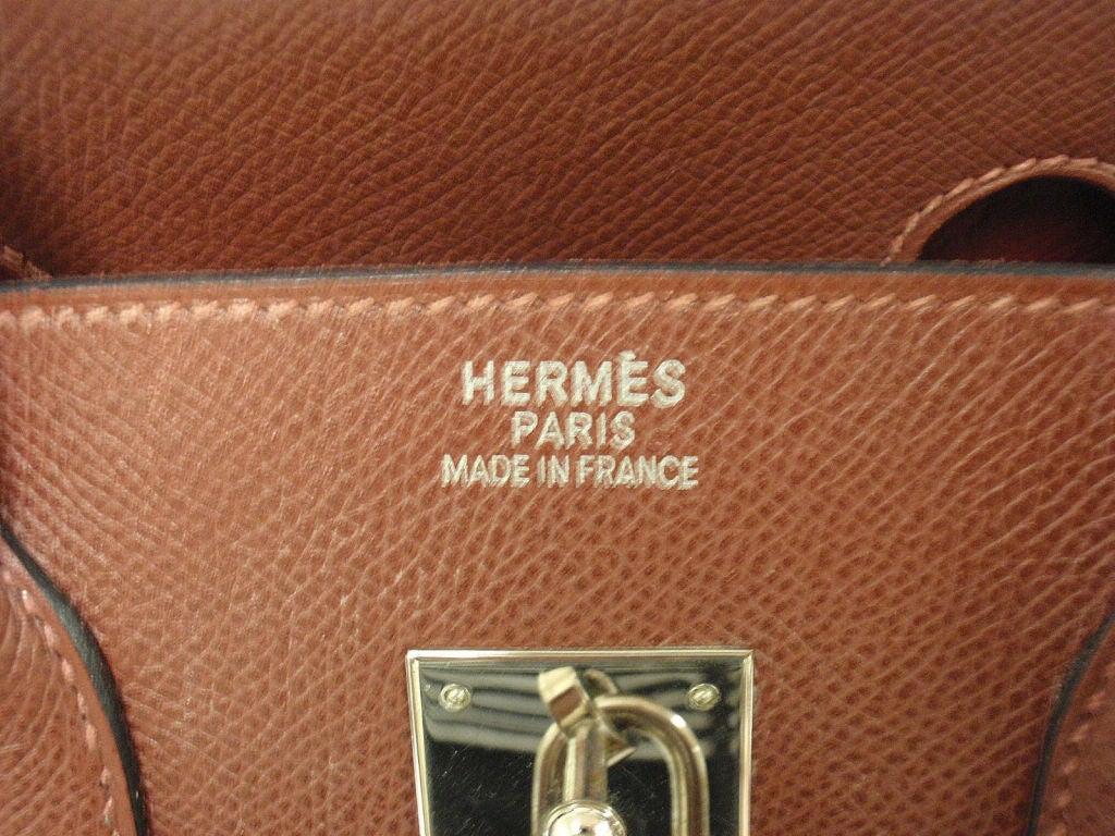 Women's Hermes 35cm Rouge Garance Epsom Birkin Handbag, Year 2006 For Sale