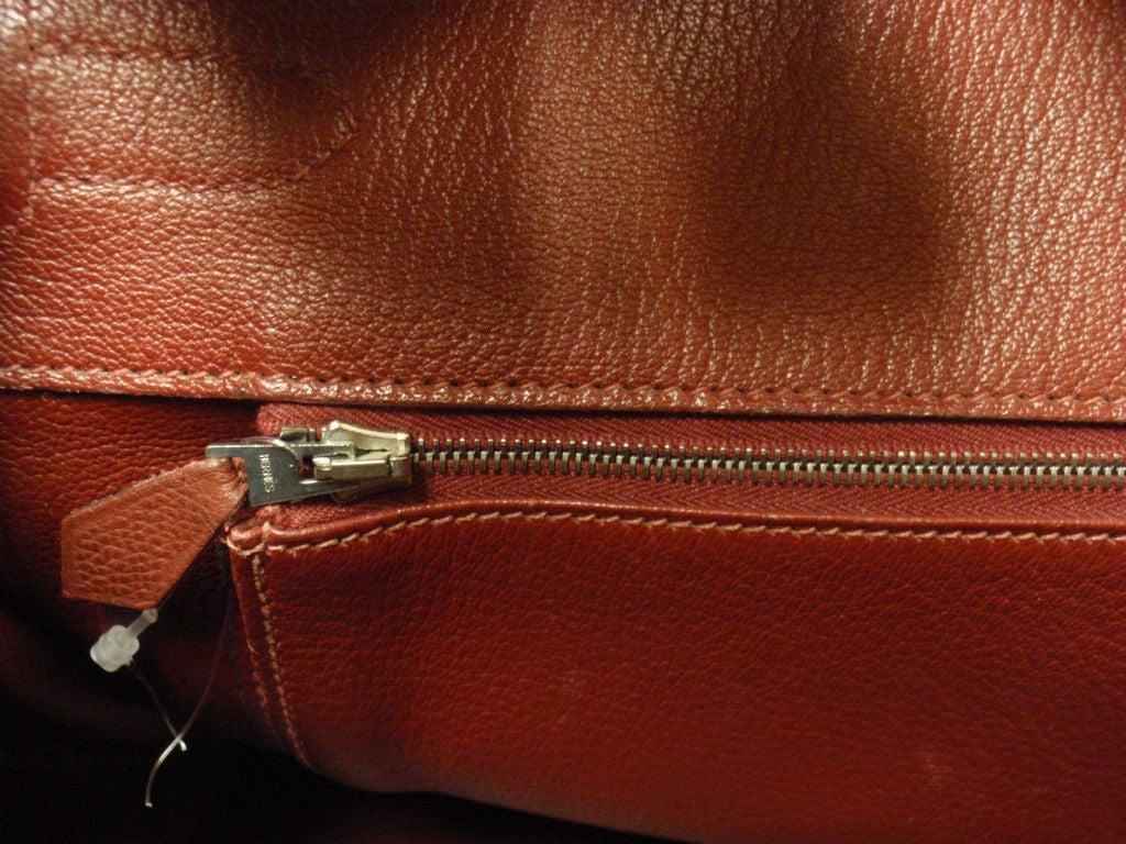 Hermes 35cm Rouge Garance Epsom Birkin Handbag, Year 2006 For Sale 1
