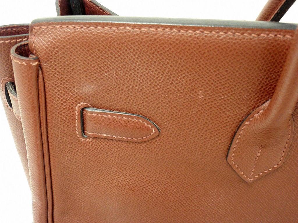 Hermes 35cm Rouge Garance Epsom Birkin Handbag, Year 2006 For Sale 2