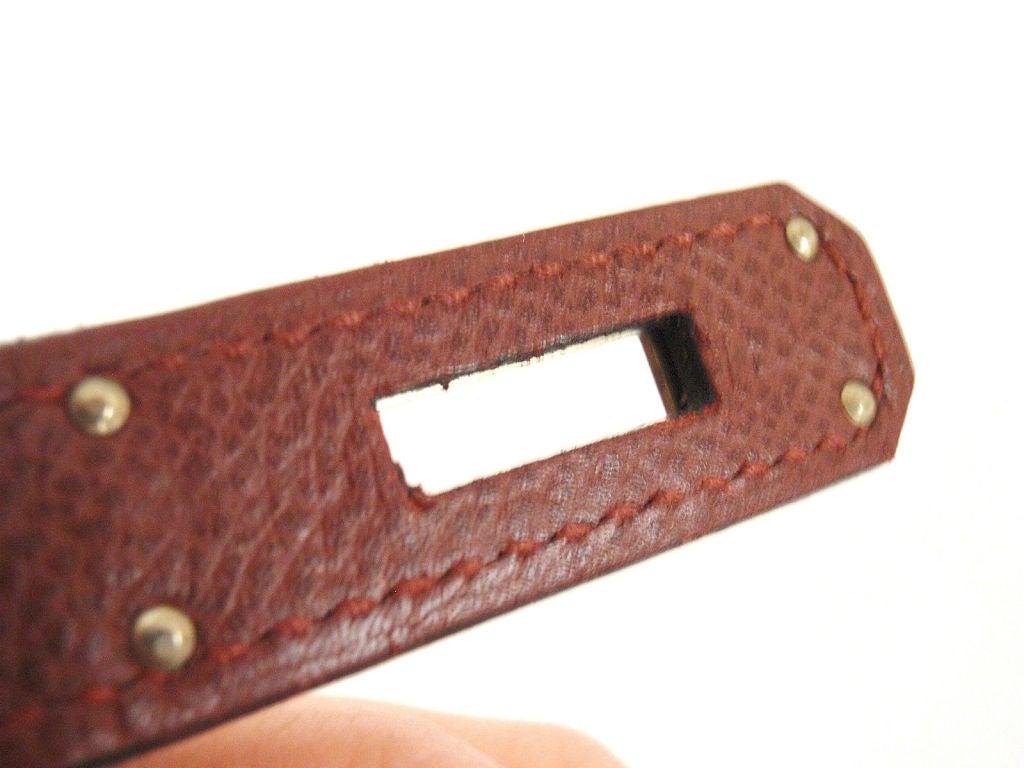 Hermes 35cm Rouge Garance Epsom Birkin Handbag, Year 2006 For Sale 3