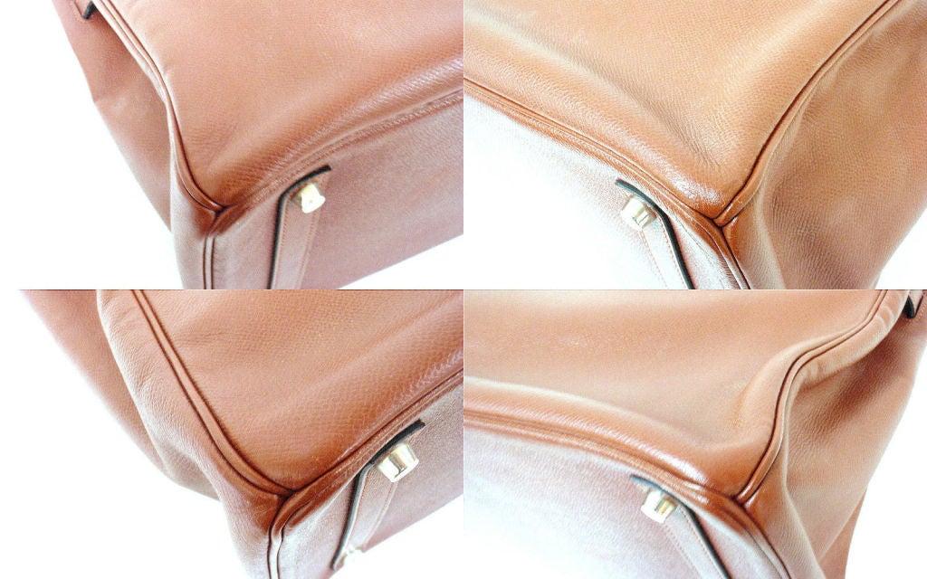 Hermes 35cm Rouge Garance Epsom Birkin Handbag, Year 2006 For Sale 4