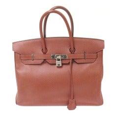 Hermes 35cm Rouge Garance Epsom Birkin Handbag, Year 2006