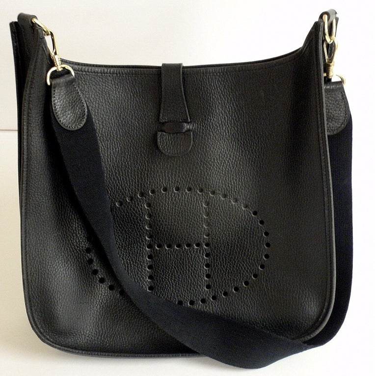 HERMES Evelyne 2PM Black Clemence Leather SHW Shoulder Bag 2
