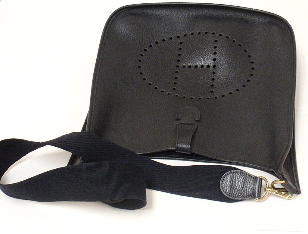 HERMES Evelyne 2PM Black Clemence Leather SHW Shoulder Bag 4