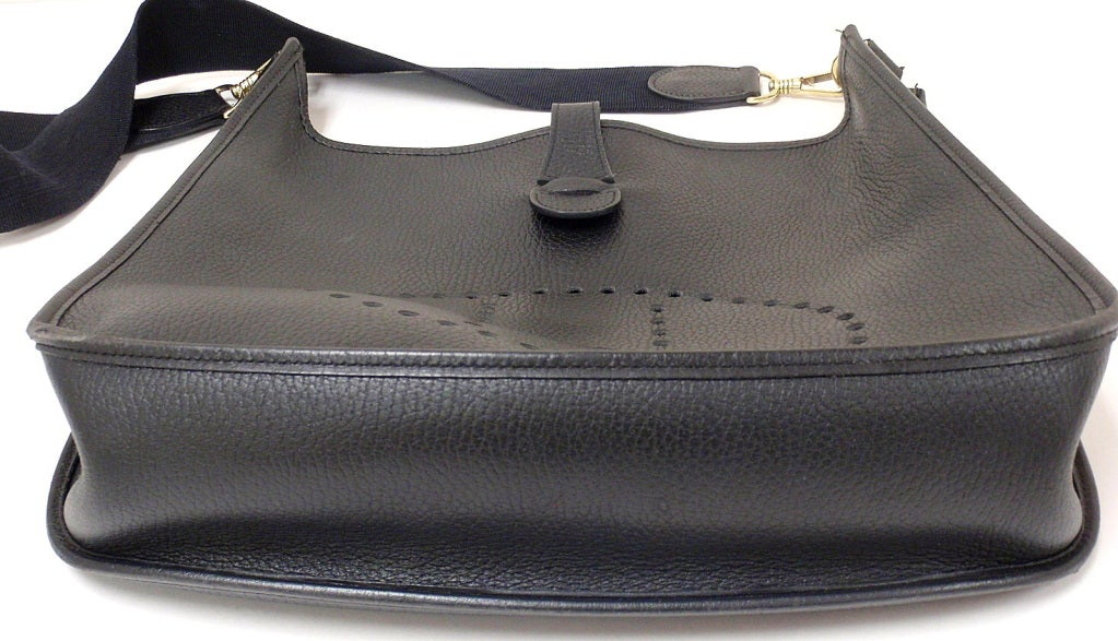HERMES Evelyne 2PM Black Clemence Leather SHW Shoulder Bag at 1stdibs