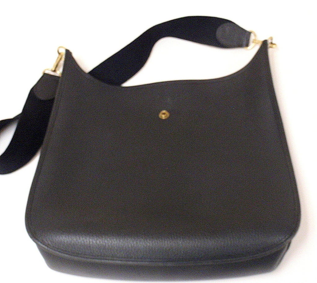 HERMES Evelyne 2PM Black Clemence Leather SHW Shoulder Bag 6