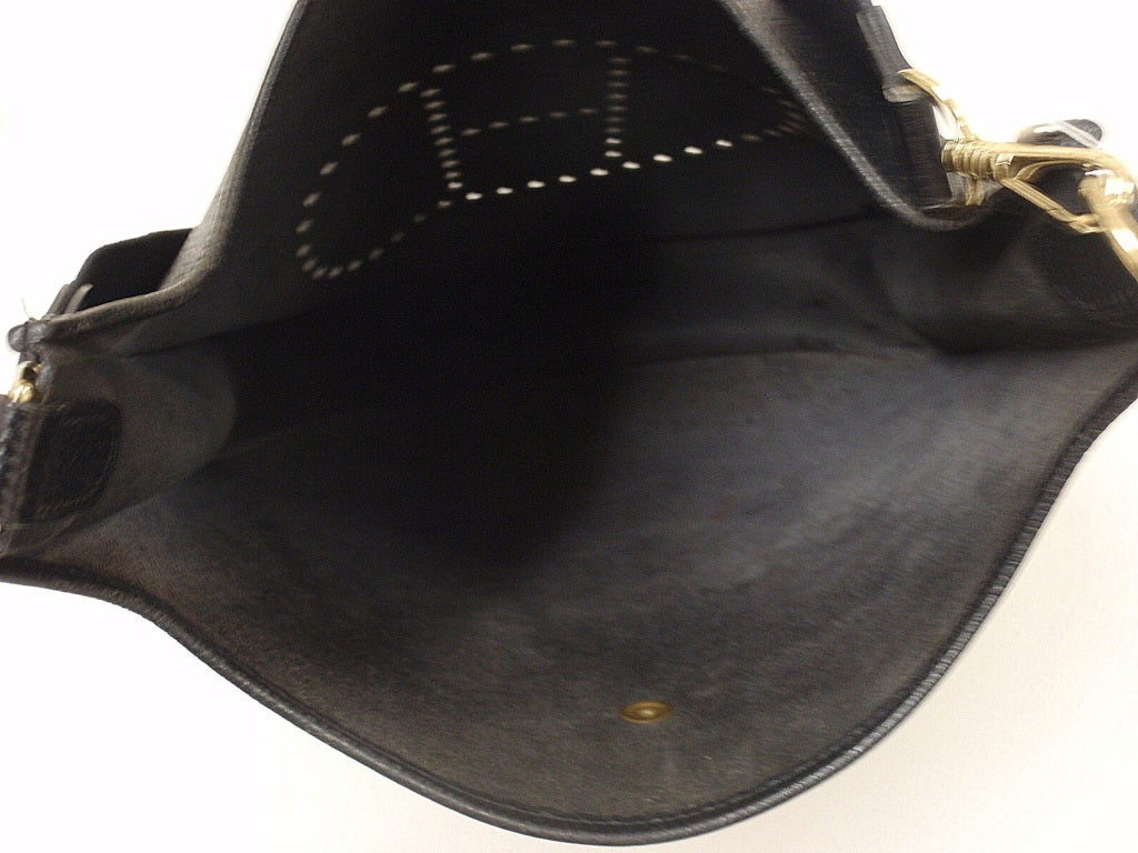 HERMES Evelyne 2PM Black Clemence Leather SHW Shoulder Bag 7