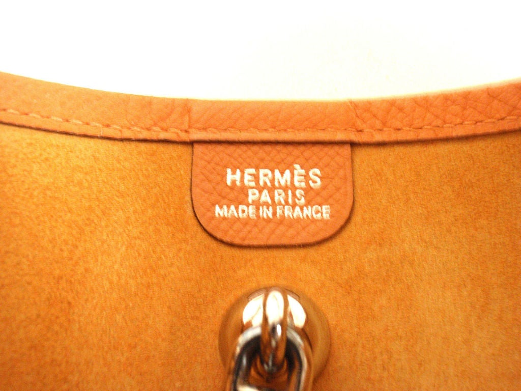 HERMES Vespa PM Orange Epsom Leather Shoulder Bag, 2005 at 1stdibs