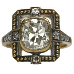 Old Cushion Cut Diamond Ring Masterpiece