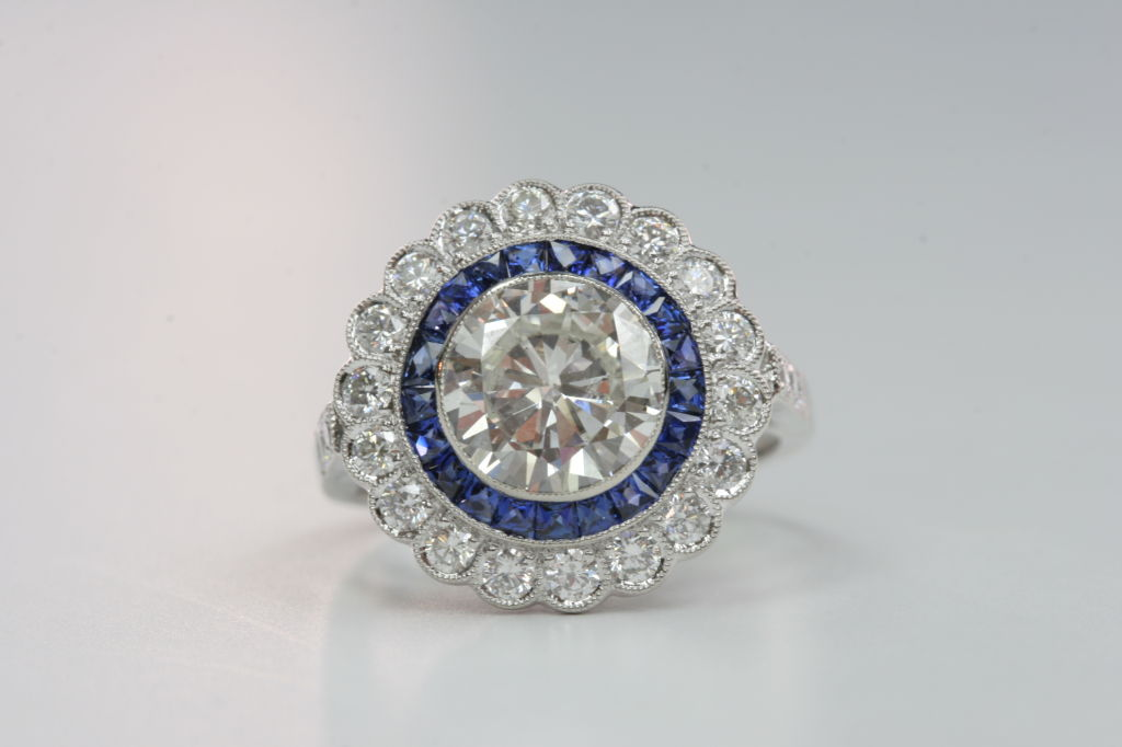 Sapphire and Diamond Engagement Ring 2