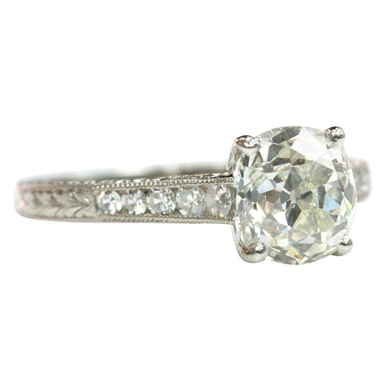 vintage cushion cut engagement ring at 1stdibs