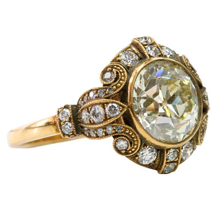 spectacular old european cut diamond ring. Black Bedroom Furniture Sets. Home Design Ideas
