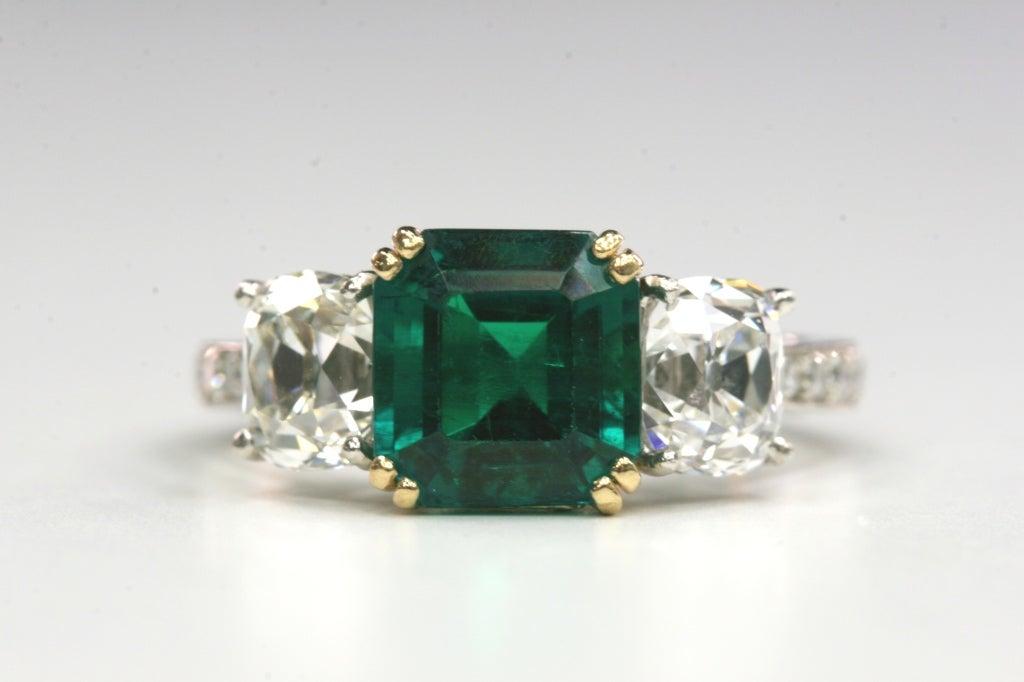 asscher cut emerald ring at 1stdibs
