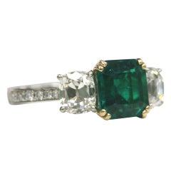 Asscher cut Emerald Ring