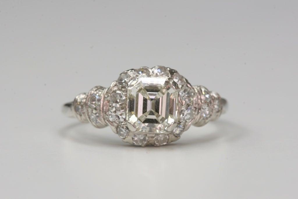 asscher cut engagement ring at 1stdibs