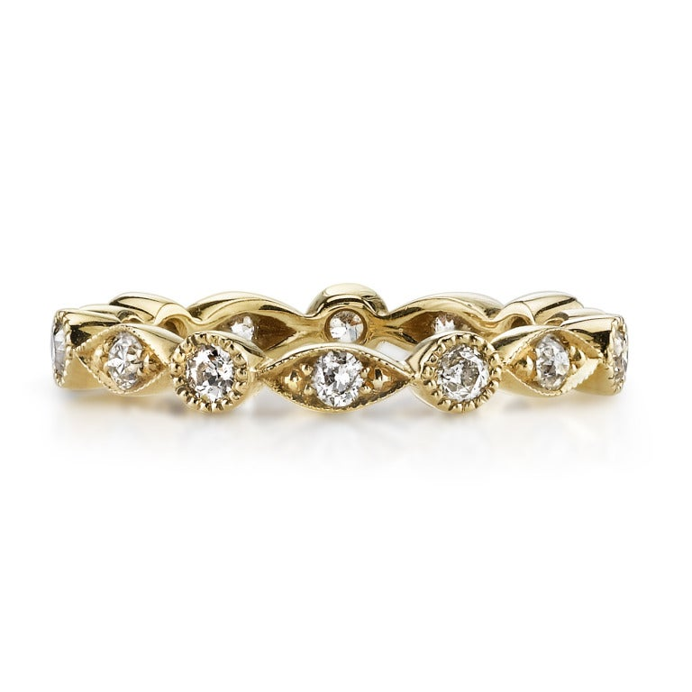Approx. 0.50 Carat Old European Cut Diamonds Set in a Handcrafted Eternity Band