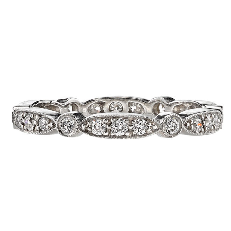 Hand Crafted Old European Cut Eternity Band