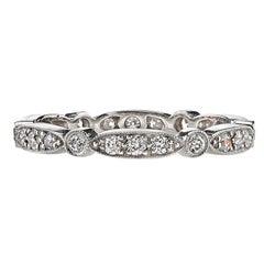 Approx. 0.50 Carat Old European Cut Diamonds Set in a Platinum Eternity Band