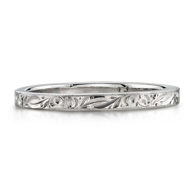 Women's Engraved Wedding Band For Sale