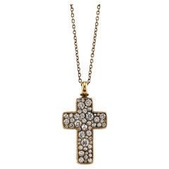 Cobblestone Cluster Cross Necklace