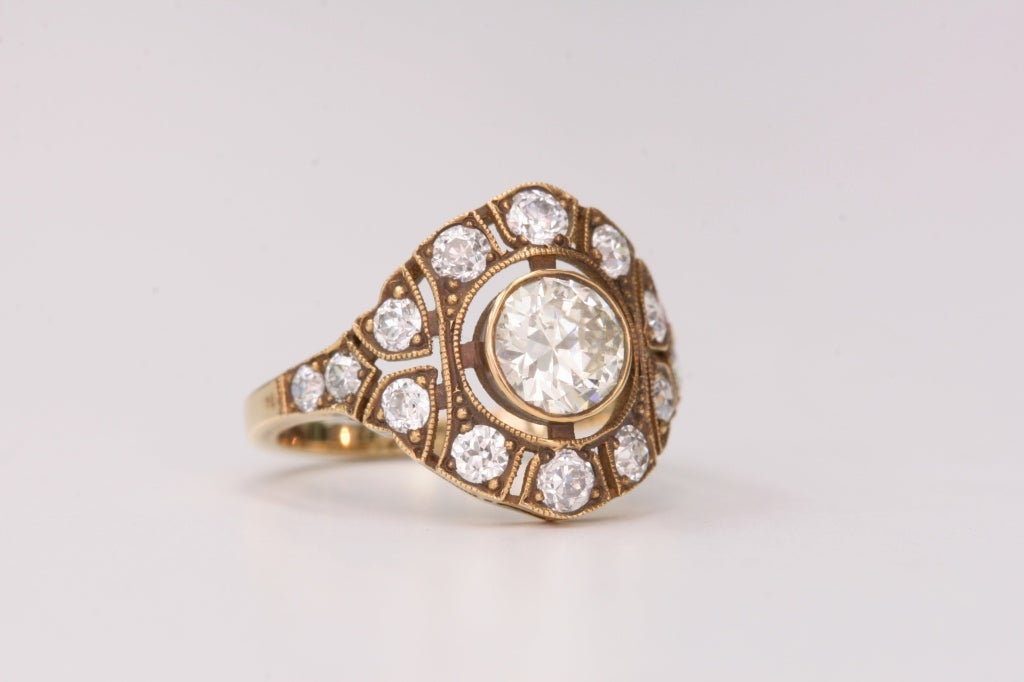 Old World Style Diamond Engagement Ring At 1stdibs