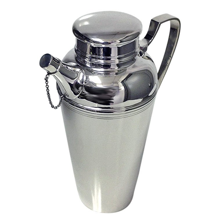 Tiffany Art Deco Sterling Silver Cocktail Shaker At 1stdibs