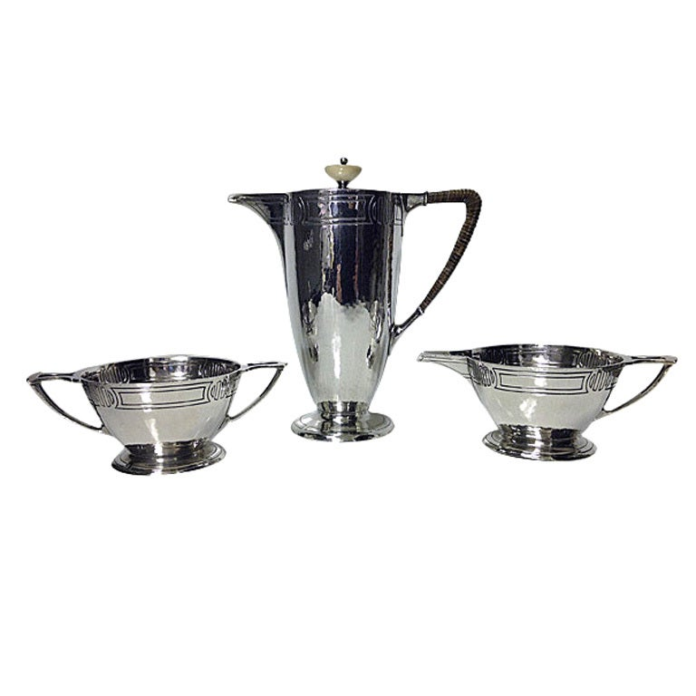 American Arts & Crafts Sterling Coffee Service