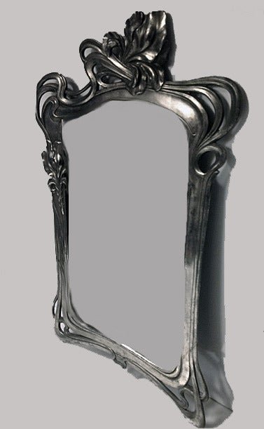 Art Nouveau Mirror Argentor, circa 1900 In Good Condition For Sale In Toronto, ON