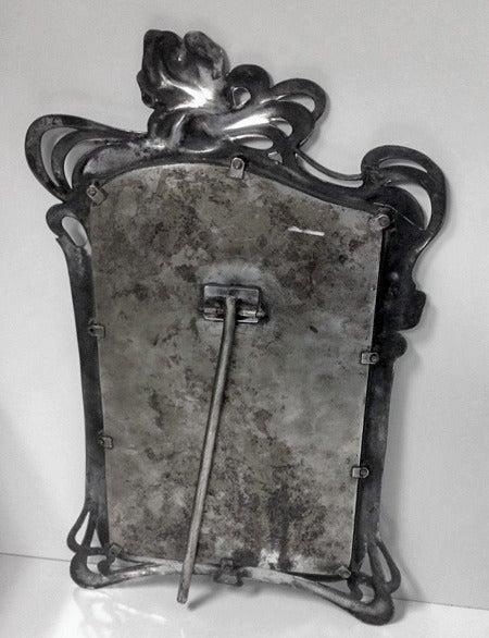 Women's or Men's Art Nouveau Mirror Argentor, circa 1900 For Sale