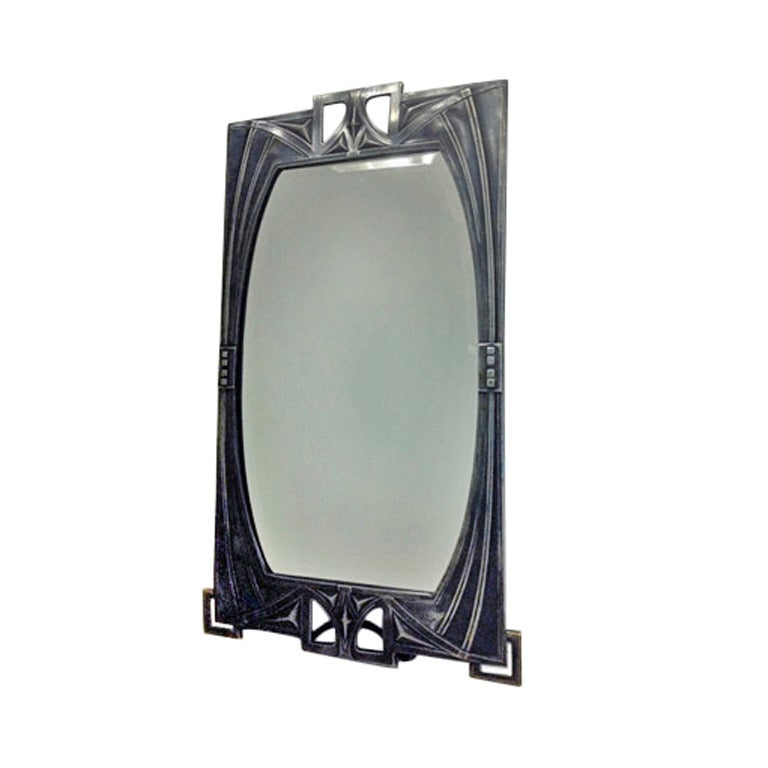 Rare Design WMF Jugendstil Mirror, circa 1905