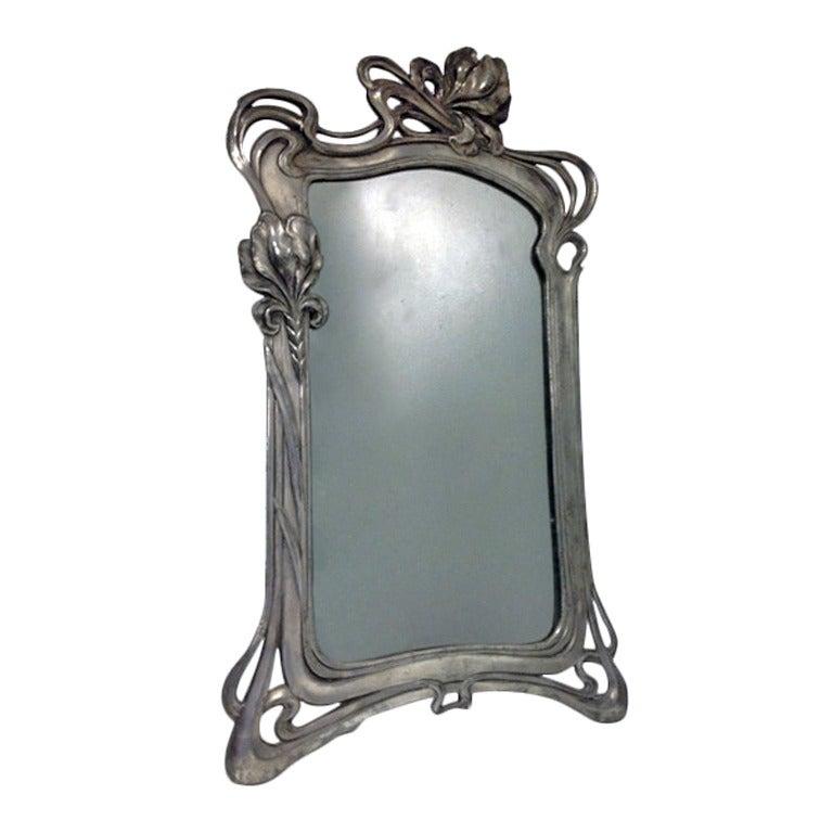 Art nouveau mirror argentor at 1stdibs for Miroir art nouveau
