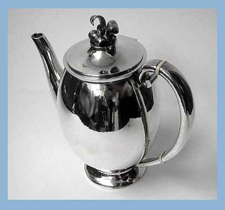 Evald Nielsen Danish Silver Coffee Service, circa 1930 3