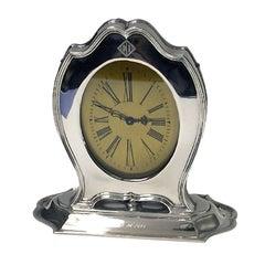 American Art Deco Sterling Silver Clock Reed & Barton, circa 1920
