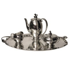EVALD NIELSEN Danish Silver Coffee Service C.1930