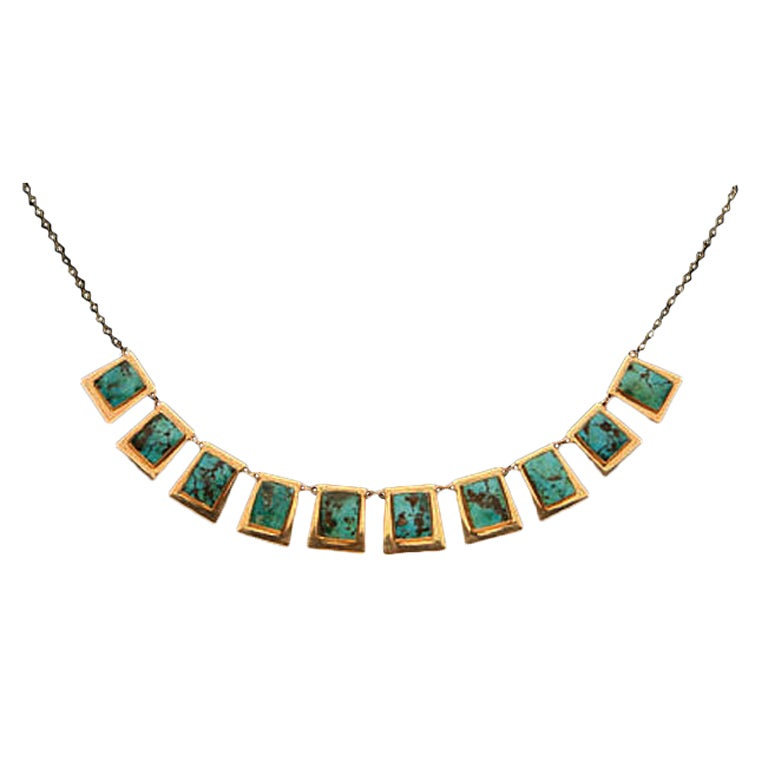Turquoise and Gold Necklace, C.1960.